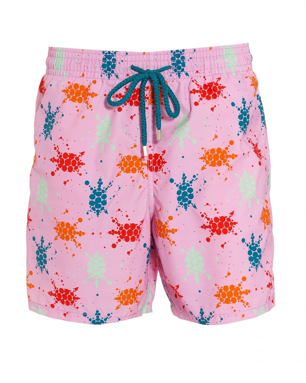 43ab66c0d4 Vilebrequin Mens Moorea Swim Shorts, Pink Quartz Turtle Splodge Swimmi