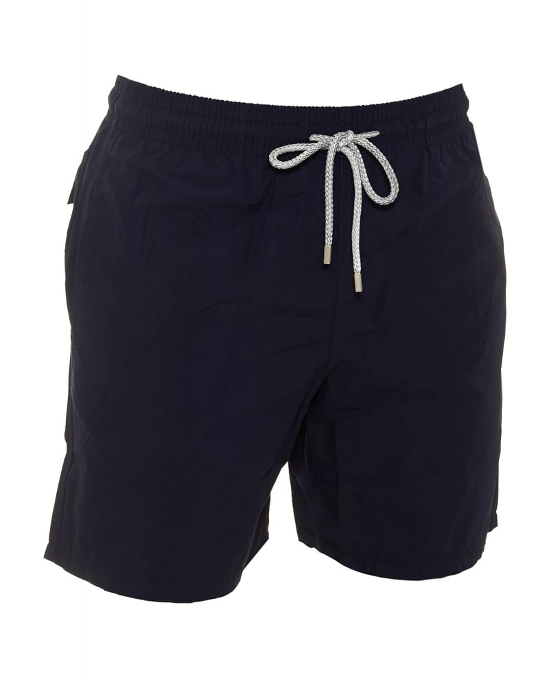 Vilebrequin Mens Moorea Swim Shorts Plain Navy Blue Swimwear