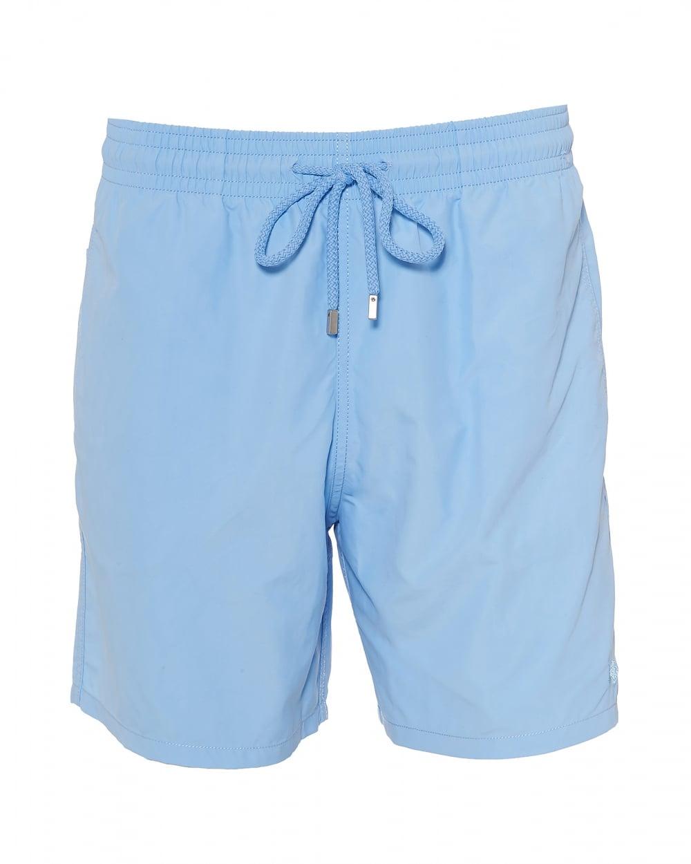 21456ba719 Vilebrequin Mens Moorea Swim Shorts, Water Reactive Blue Swimming Trun