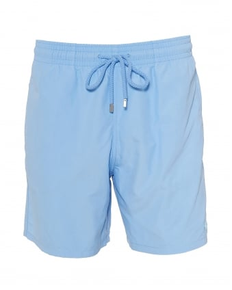 Mens Moorea Swim Shorts, Water Reactive Blue Swimming Trunks