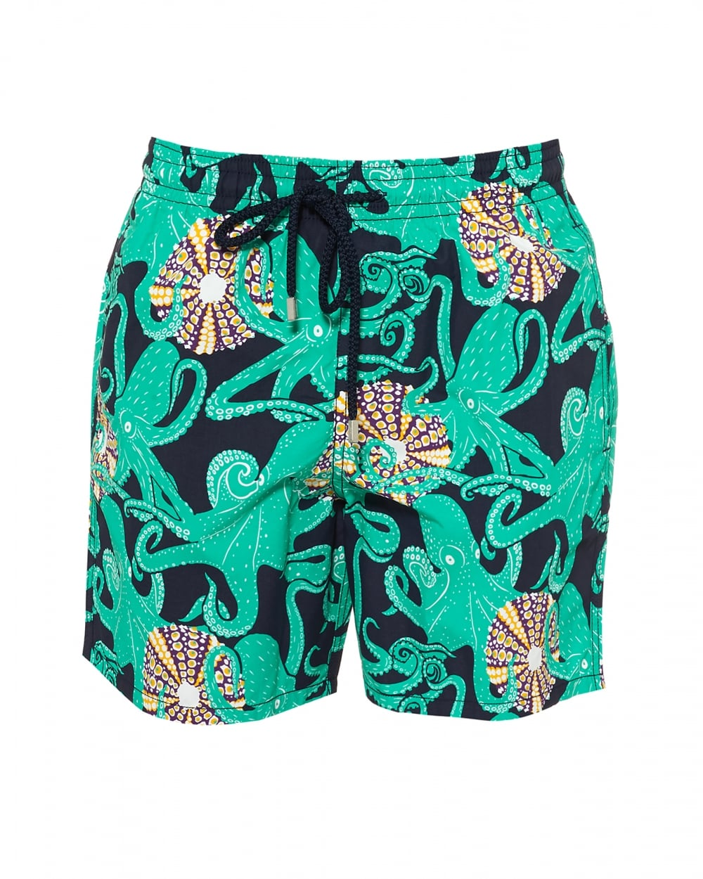 8b32fd7504 Vilebrequin Mens Moorea Swimshorts, Navy Octopus Print Swimming ...