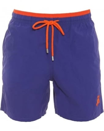 Mens Swim Shorts Moka Ultramarine Bicolour Solid Purple Orange Short