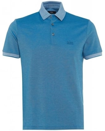 Vito 38 Blue Regular Fit Cotton Polo Shirt