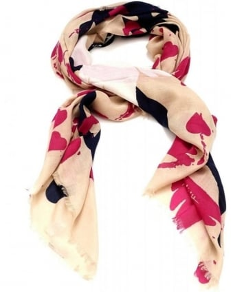 Beige and Pink Liberty Dove Scarf
