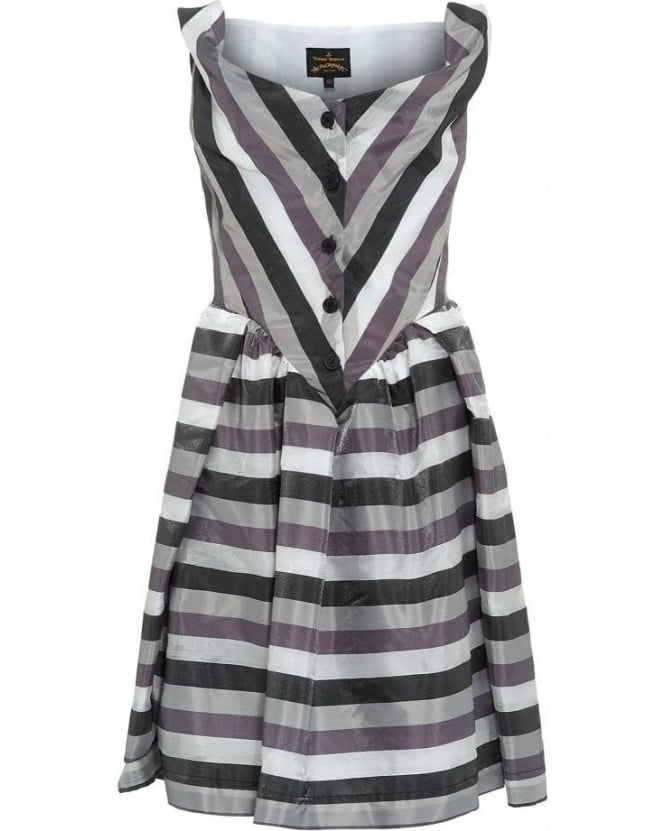 Vivienne Westwood Anglomania Liquorice Stripe Saturday Dress
