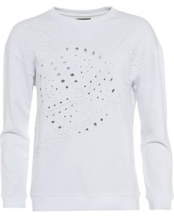Over-Sized White Orb Sweatshirt