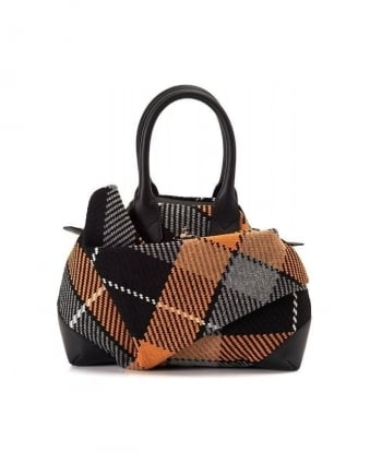 Black and Yellow Winter James Tartan Bag