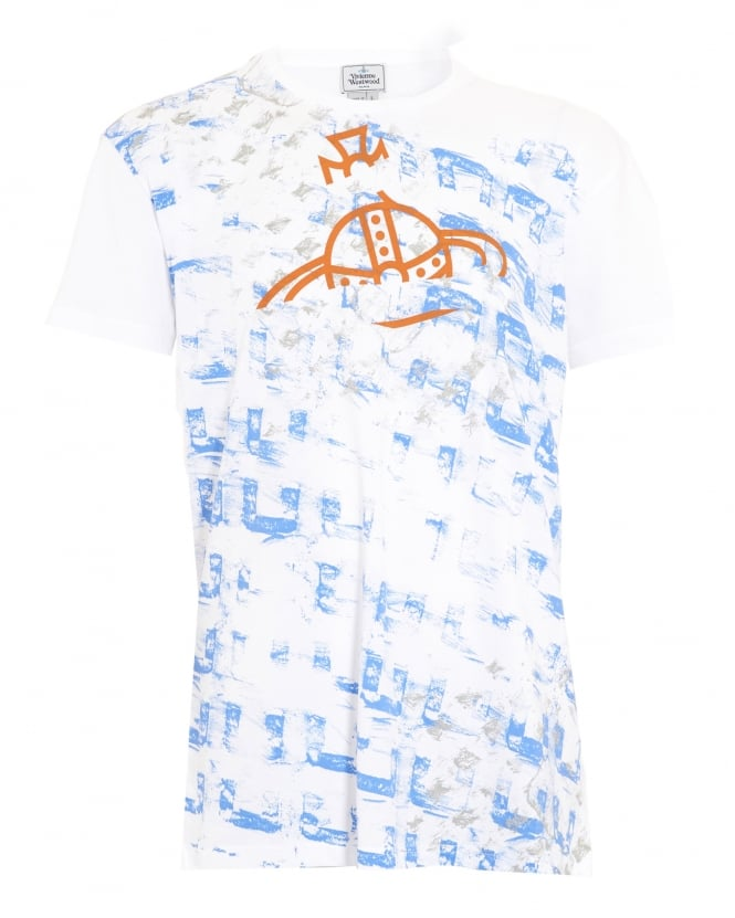 Vivienne Westwood Man Abstract Print Slim Fit White T-Shirt