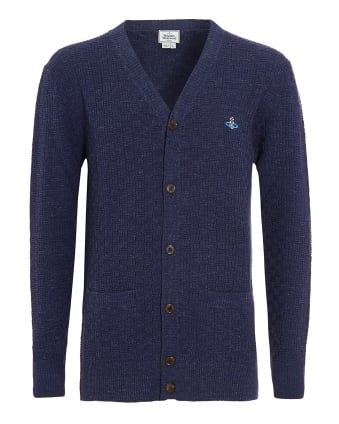 Cardigan, Navy Blue Long Classic Cardi