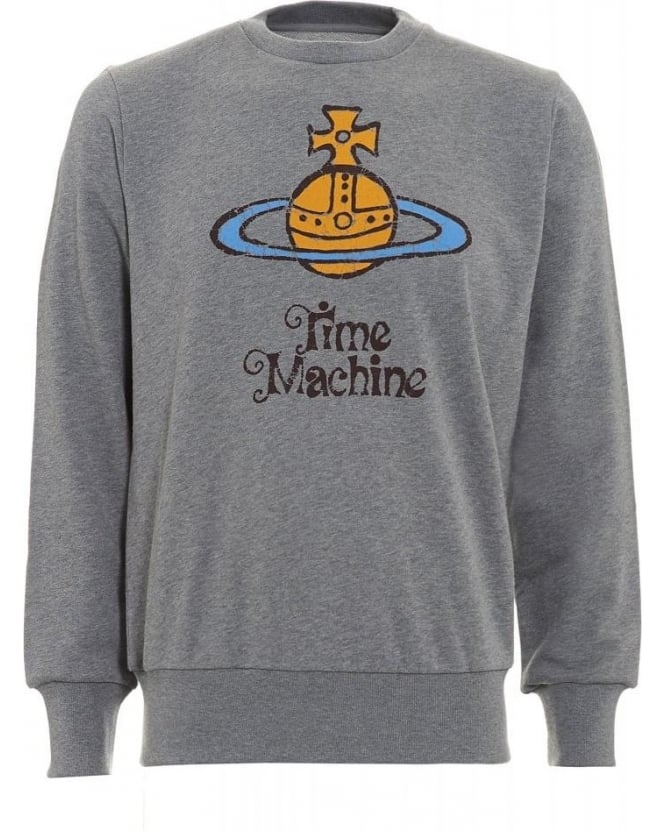 Vivienne Westwood Man Grey Sweatshirt Time Machine Sweat