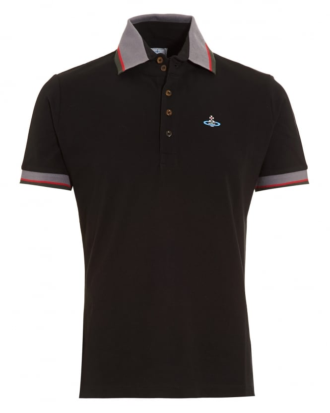 Vivienne Westwood Man Krall Polo Shirt, Black Tipped Polo