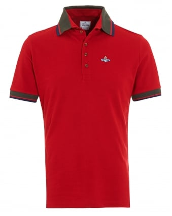 Krall Polo Shirt, Slim Fit Red Tipped Polo