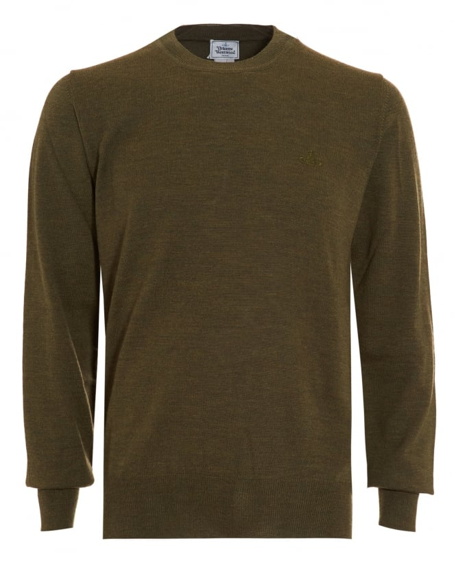 Vivienne Westwood Man Mens Crew Neck Classic Green Jumper