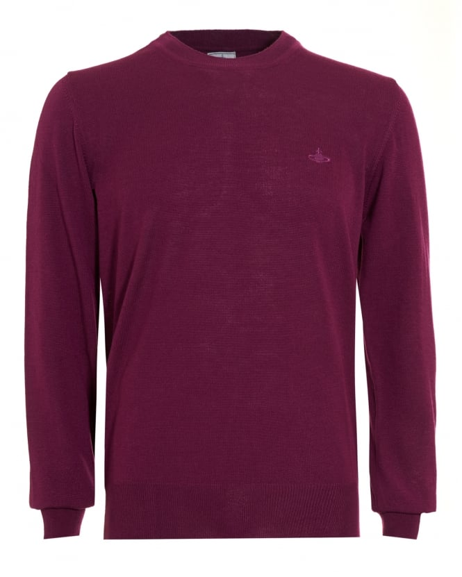Vivienne Westwood Man Mens Crew Neck Classic Purple Jumper