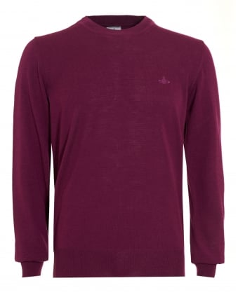 Mens Crew Neck Classic Purple Jumper