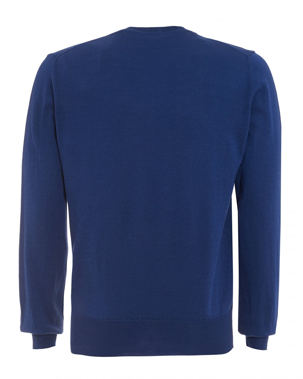 Vivienne Westwood Man Mens Jumper, Orb Logo Plain Blue Sweater