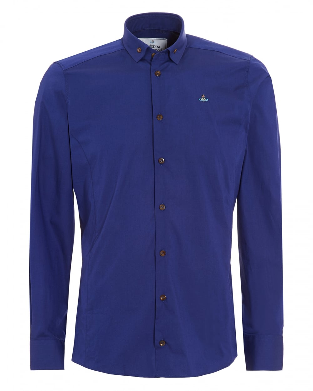 Vivienne Westwood Man Mens Krall Buttoned Slim Fit Royal