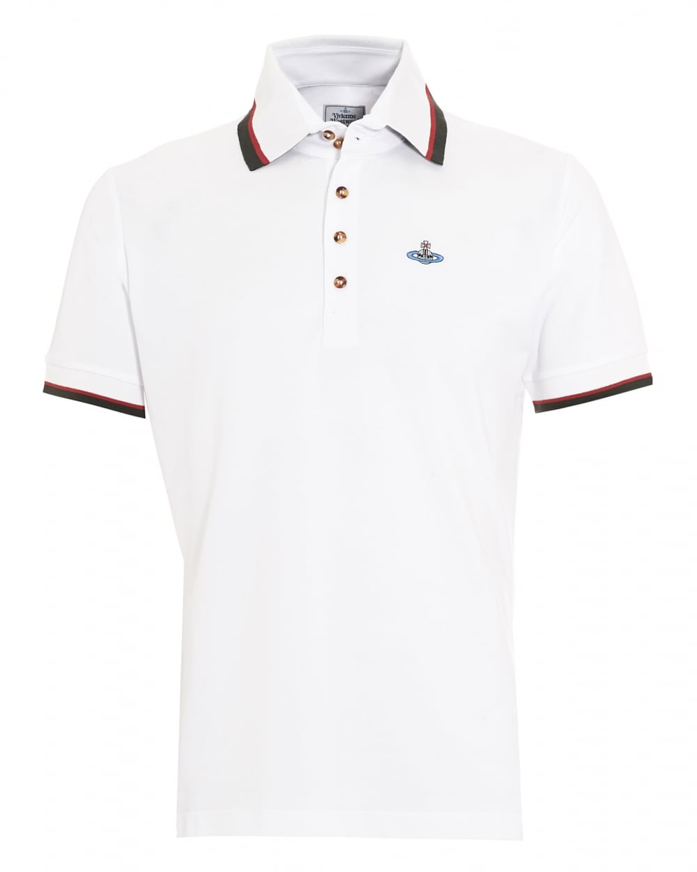 vivienne westwood man mens krall polo shirt white tipped polo. Black Bedroom Furniture Sets. Home Design Ideas