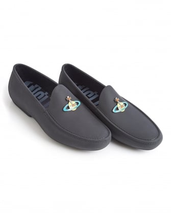 Mens Loafer, Black Rubber Orb Shoes