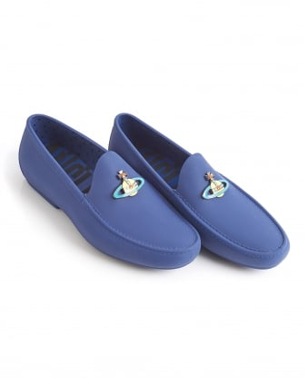 Mens Loafer, Cobalt Blue Rubber Orb Shoes