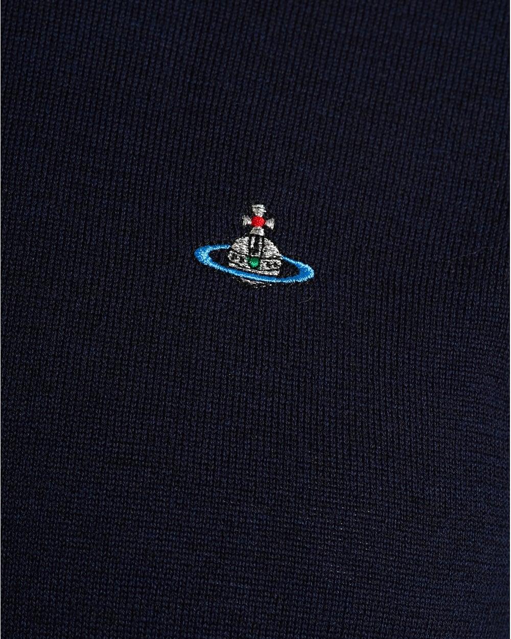 Vivienne Westwood Mens Navy Blue Jumper a50a137c4