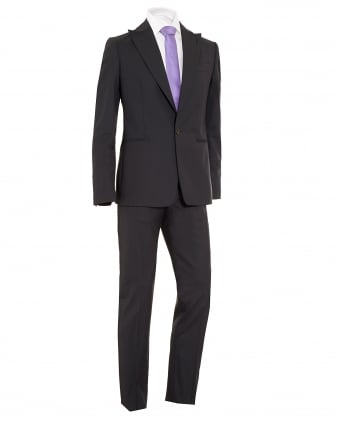 Mens Suit, James Slim Fit New Wool Charcoal Grey Suit