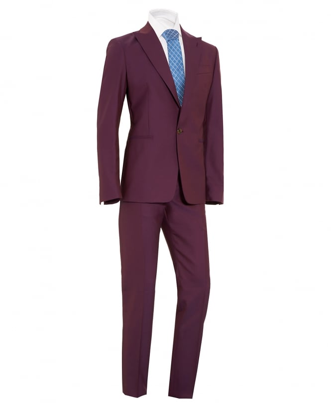 Vivienne Westwood Man Mens Suit, James Slim Fit New Wool Purple Suit