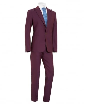 Mens Suit, James Slim Fit New Wool Purple Suit