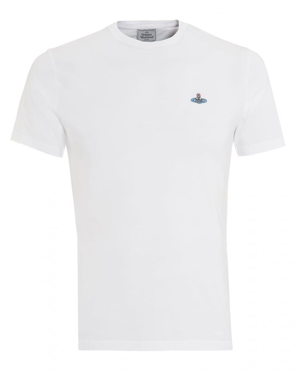 Mens T-Shirt, Orb Logo White Tee