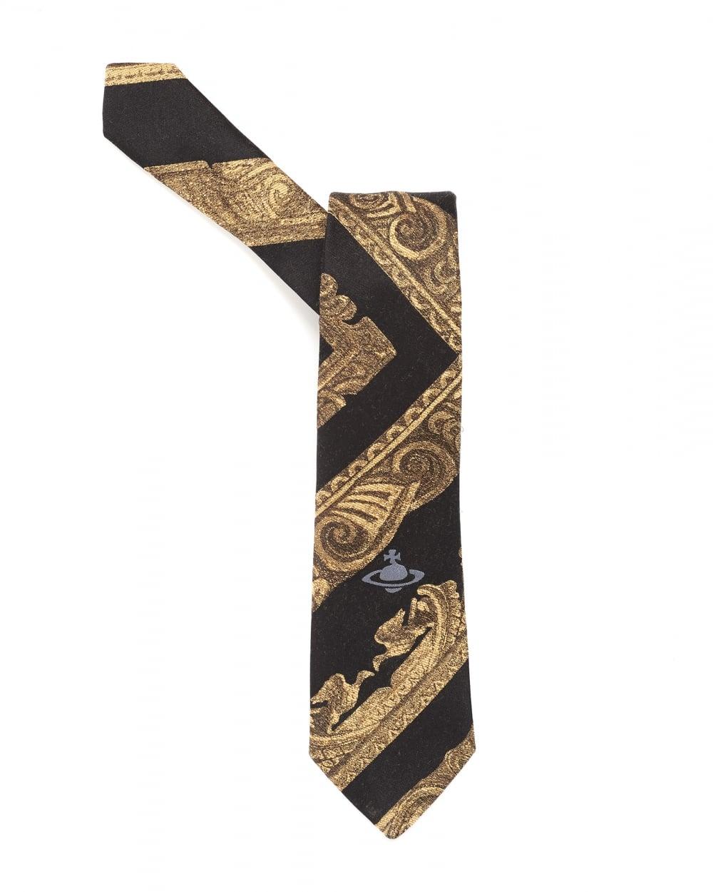 Mens Tie, Charcoal Grey Frame Tie