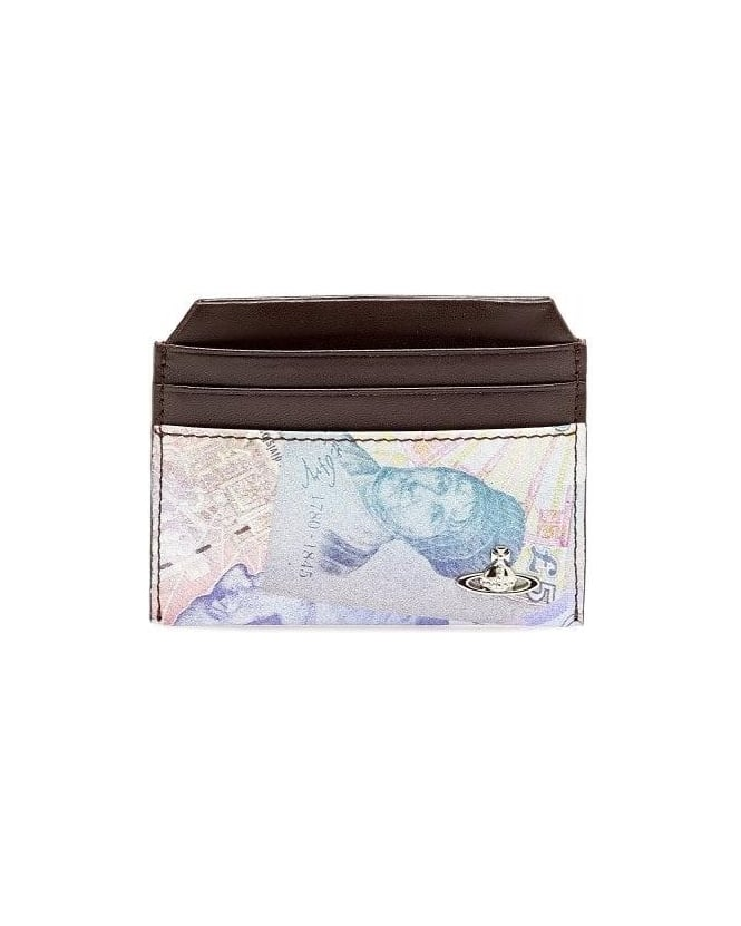 Vivienne Westwood Man Money Print Orb Leather Cardholder