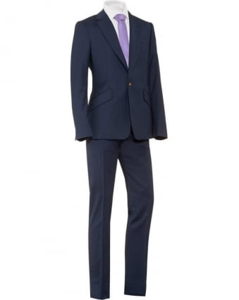 Suit Blue Melange James 1 Button Suit
