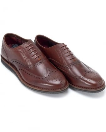 Volusel Brown Brogue Lace Up Shoes