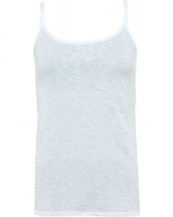 White Cotton Slub Miracle 02 Vest Top