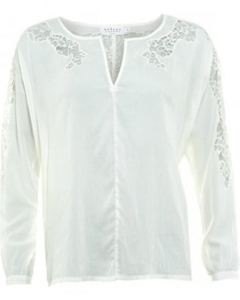 White Lace Detail Jennilyn 02 Blouse