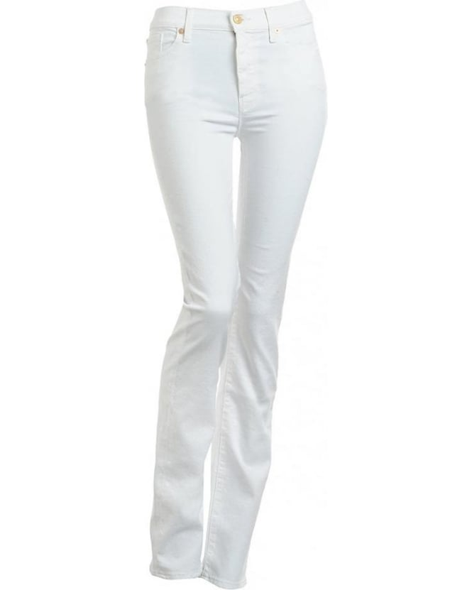 For All Mankind White Nile Classic Straight Leg Jeans
