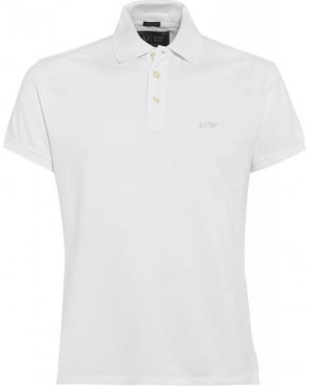 White Polo Shirt, Muscle Fit Polo
