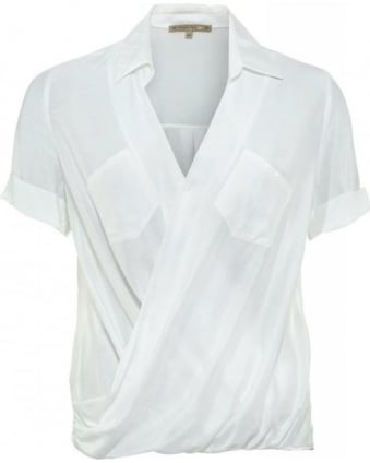 White Silk Chiffon Shirt