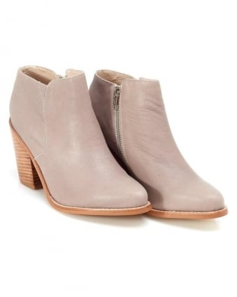 Womens Alex II, Taupe Leather Ankle Boot