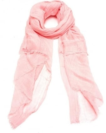 Womens Amarillo Scarf, Peony Pink Cotton Linen Scarf