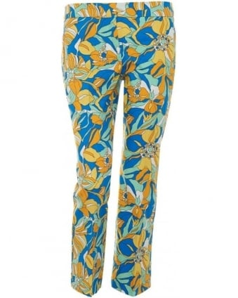 Womens Arbiter Trousers, Floral Straight Leg Cropped Trouser
