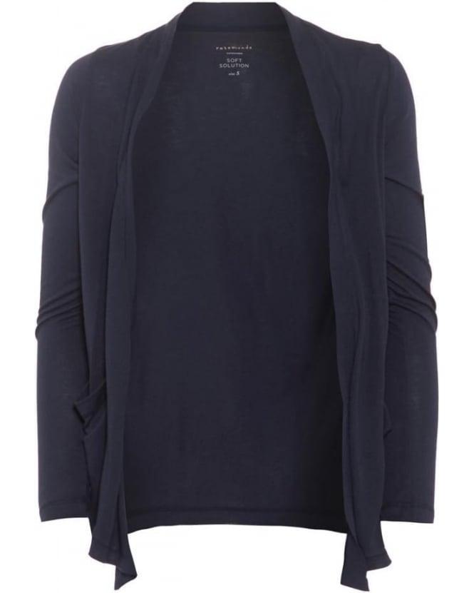 rosemunde womens bolette cardigan, navy blue open knitwear