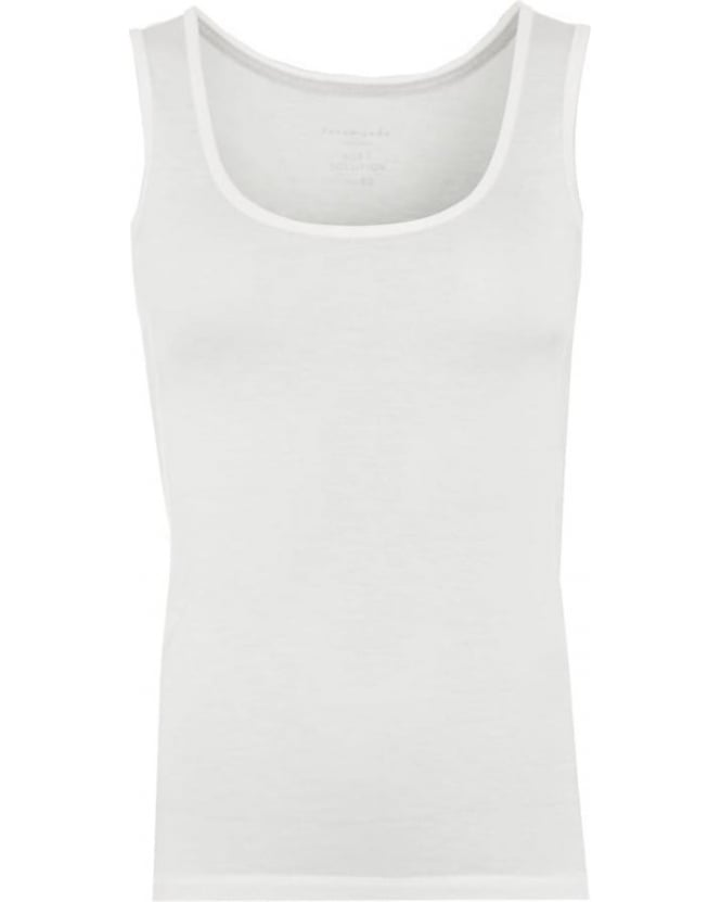 Rosemunde Womens Bolette Vest Top, White Soft Powder Loose Top