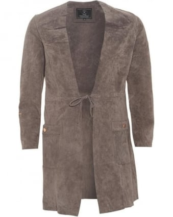 Womens Collinna Coat, Brown Suede Jacket