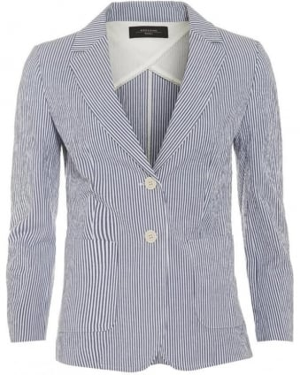 Womens Dolce Blazer, Blue Stripe Jacket