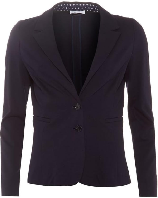 I Blues Womens Dondolo Blazer, Navy Blue Jersey Jacket