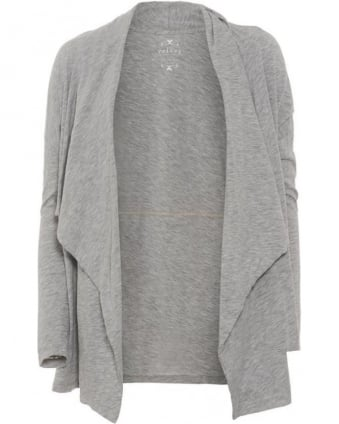 Womens Drape Cardigan Emanuela Heather Grey