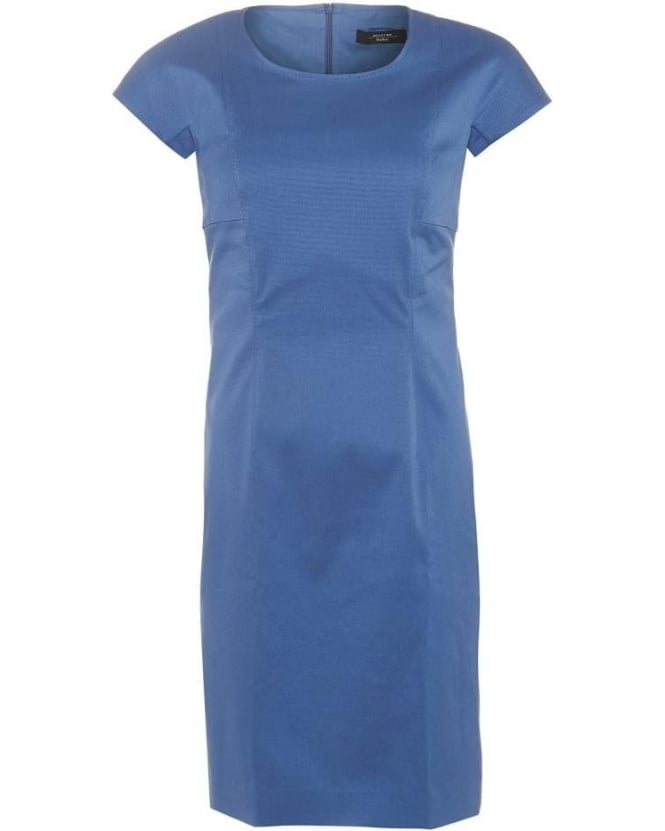 Max Mara Weekend Womens Epopea Dress, Ocean Blue Classic Shift Dress