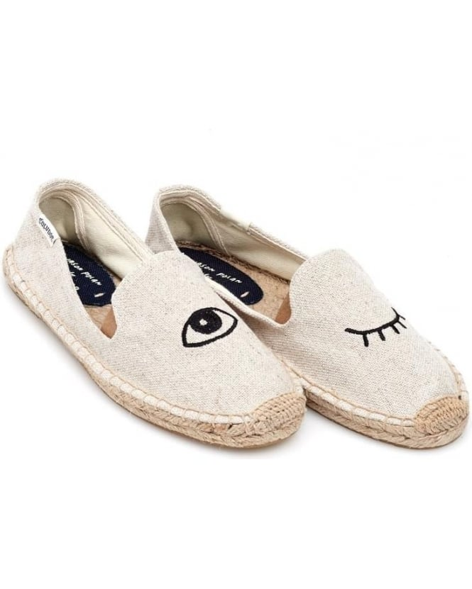 Soludos Womens Espadrille, Wink Jason Polan Sand Smoking Slipper