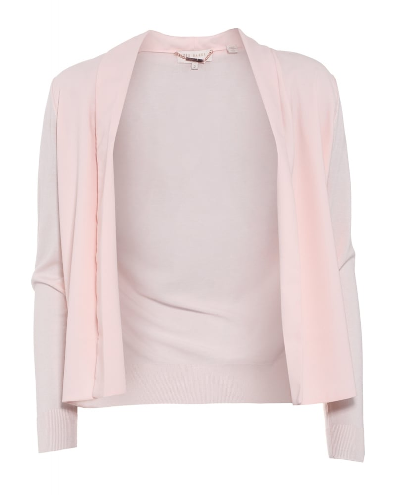 Ted Baker Womens Faiyly Cardigan, Baby Pink Panel Waterfall Wrap